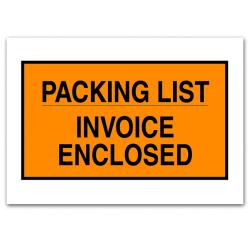 "Office Depot® Brand ""Packing List/Invoice Enclosed"" Envelopes, Full Face, 7"" x 10"", Orange, Pack Of 1,000"