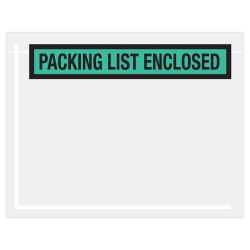 """Office Depot® Brand """"Packing List Enclosed"""" Envelopes, Panel Face, 7"""" x 5 1/2"""", Green, Pack Of 1,000"""