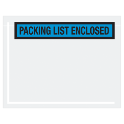 """Office Depot® Brand """"Packing List Enclosed"""" Envelopes, Panel Face, 7"""" x 5 1/2"""", Blue, Pack Of 1,000"""