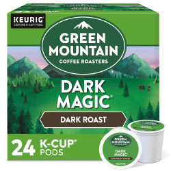 Green Mountain Coffee® Dark Magic Extra-Bold Coffee Single-Serve K-Cup®, Carton Of 24