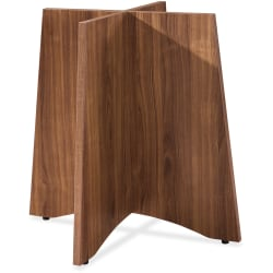 Lorell® Laminate Conference Table Base, For Round Table Tops, Walnut