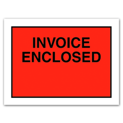 """Office Depot® Brand """"Invoice Enclosed"""" Envelopes, Full Face, 4 1/2"""" x 6"""", Red, Pack Of 1,000"""