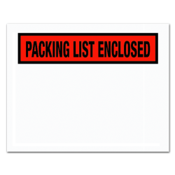 """Partners Brand """"Packing List Enclosed"""" Envelopes, Panel Face, 4-1/2"""" x 5-1/2"""", Red, Pack Of 1,000"""
