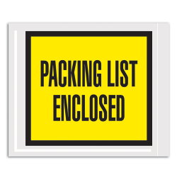 "Office Depot® Brand ""Packing List Enclosed"" Envelopes, Full Face, 4 1/2"" x 5 1/2"", Yellow, Pack Of 1,000"
