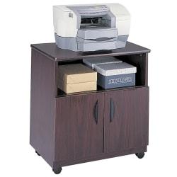 "Safco® Mobile Machine Stand, 30 1/4""H x 28""W x 19 3/4""D, Mahogany"