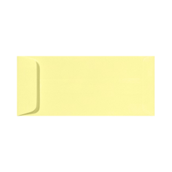 "LUX Open-End Envelopes With Peel & Press Closure, #10, 4 1/8"" x 9 1/2"", Lemonade Yellow, Pack Of 250"