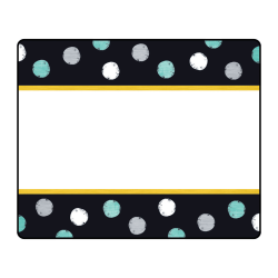 """TREND Terrific Labels, 2-1/2"""" x 3"""", I Love Metal Dots, Black/White/Patina, Pack Of 25 Labels"""