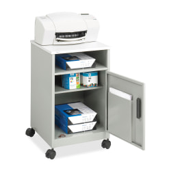 """Safco® Compact Machine Stand, 27 1/4""""H x 17 1/4""""W x 17 1/4""""D, Gray"""