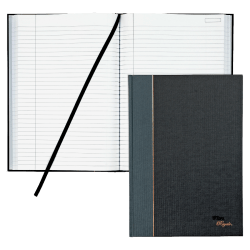 "TOPS® Royale Casebound Notebook, 8 1/4"" x 11 3/4"", Legal Ruled, 96 Sheets, Gray"