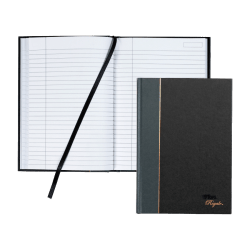 """TOPS® Royale Casebound Notebook, 5 7/8"""" x 8 1/4"""", Legal Ruled, 96 Sheets, Gray"""