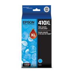 Epson® 410XL Claria® High-Yield Premium Cyan Ink Cartridge, T410XL220-S