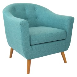 Lumisource Rockwell Chair, Teal/Brown