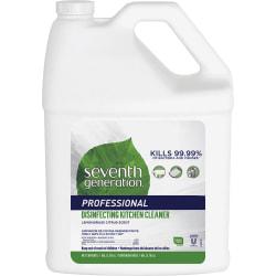 Seventh Generation Disinfecting Kitchen Cleaner Refill - 128 fl oz (4 quart) - Lemongrass Citrus Scent - 1 Each - Multi