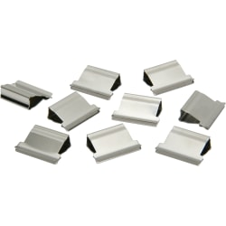 Clam Clip Refills, Medium, Silver, Box Of 50 (AbilityOne 7510-01-317-4228)