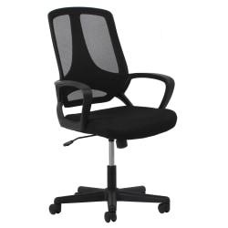 OFM Essentials Mesh High-Back Task Chair, Black/Silver