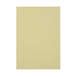 """50% Recycled Glued Writing Pads By SKILCRAFT®, 8 1/2"""" x 14"""", Yellow, Legal Ruled Both Sides, Pack Of 12 (AbilityOne 7530-01-124-7632)"""