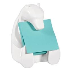 "Post-it® Notes Pop-Up Note Dispenser, Bear, 4 1/2""H x 3 7/16""W x 4 7/16""D, Blue/White"