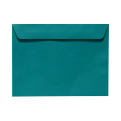 """LUX Booklet Envelopes With Moisture Closure, #9 1/2, 9"""" x 12"""", Teal, Pack Of 250"""