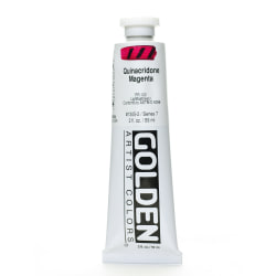 Golden Heavy Body Acrylic Paint, 2 Oz, Quinacridone Magenta