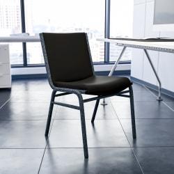 Flash Furniture HERCULES Series Heavy-Duty Stack Chair, Black/Silver Vein