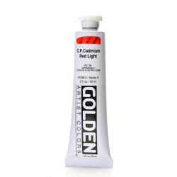 Golden Heavy Body Acrylic Paint, 2 Oz, Cadmium Red Light (CP)