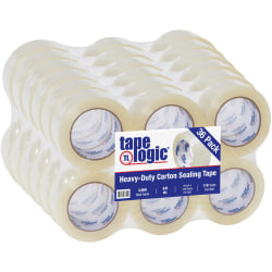 "Tape Logic® Acrylic Sealing Tape, 3"" Core, 2"" x 110 Yd., Clear, Pack Of 36"