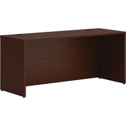 """HON® Mod 66"""" Credenza Desk Shell, Mahogany"""