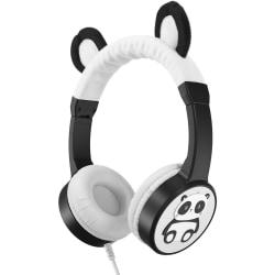 Planet Buddies Pippin the Panda Furry Kids Headphones - Stereo - Mini-phone (3.5mm) - Wired - Over-the-head - Binaural - Circumaural - Black