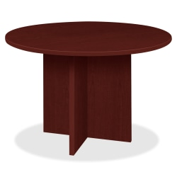 """Lorell® Prominence 2.0 Round Conference Table, 42""""W, Mahogany"""