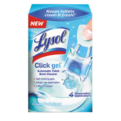 Lysol® Brand Click Gel™ Automatic Toilet Bowl Cleaner, Ocean Fresh Scent, 0.17 Oz Bottle, Case Of 4