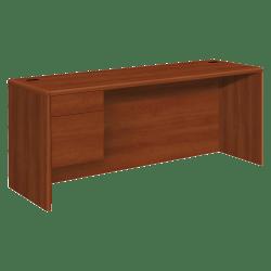 HON® 10700 Series Laminate Single-Pedestal Credenza, Left Pedestal, Cognac