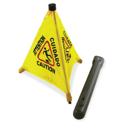 "Impact Products 31"" Pop Up Safety Cone - 24 / Carton - 18"" Width x 31"" Height - Cone Shape - Plastic - Yellow, Black"