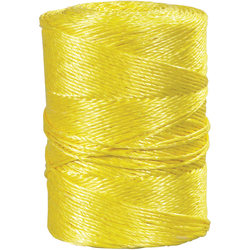 "Office Depot® Brand Twisted Polypropylene Rope, 1,150 Lb, 1/4"" x 600', Yellow"
