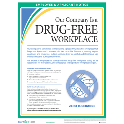 ComplyRight™ Drug-Free Workplace Poster