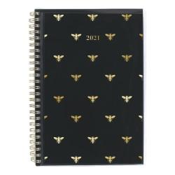 """Cambridge® Weekly/Monthly Planner, 5-1/2"""" x 8-1/2"""", Queen Bee, January To December 2021, 1462-201"""