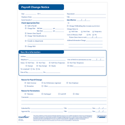 ComplyRight™ Payroll Status Changes, Pack Of 50