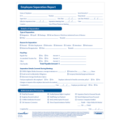 ComplyRight™ Employee Separation Reports, Pack Of 50