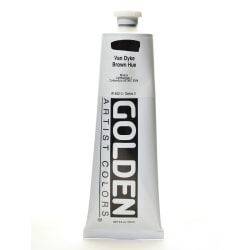 Golden Heavy Body Acrylic Paint, 5 Oz, Historical Van Dyke Brown Hue