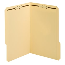 """Office Depot® Brand File Folders With Fasteners, 3/4"""" Expansion, 8 1/2"""" x 14"""", Legal, Manila, Box of 25"""