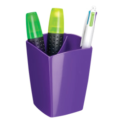 "CEP Large Gloss Pencil Cup, 3-13/16"" x 3"", Purple"