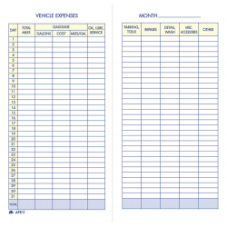 Adams® Vehicle Expense Book