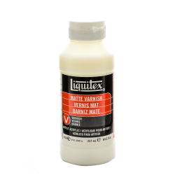 Liquitex Acrylic Permanent Matte Varnish, 8 Oz, Pack Of 2