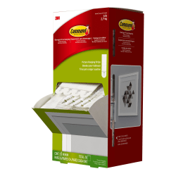 Command™ Medium Picture Hanging Strips, Trial Pack, Damage-Free, White, 2 Pairs Per Pack, 50 Packs Per Box (100 Pairs Total)