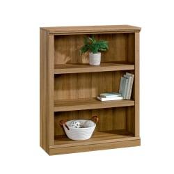 """Realspace® Premium 44""""H 3-Shelf Bookcase, Golden Oak"""