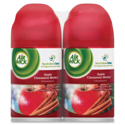 Airwick® Freshmatic® Ultra Refill, 6.17 Oz, Apple Cinnamon Medley Scent, Pack Of 2