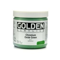 Golden Heavy Body Acrylic Paint, 16 Oz, Chromium Oxide Green
