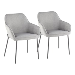 LumiSource Daniella Dining Chairs, Black/Gray, Set Of 2 Chairs