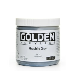 Golden Heavy Body Acrylic Paint, 16 Oz, Graphite Gray