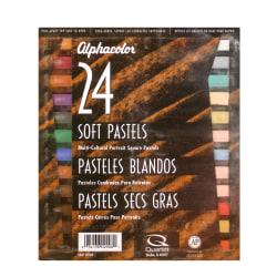 "Alphacolor Soft Pastels, 7/16"" x 2 3/4"", Assorted, Set Of 24"