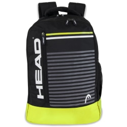 "HEAD Headshot Backpack With 15"" Laptop Pocket, Black/Yellow"